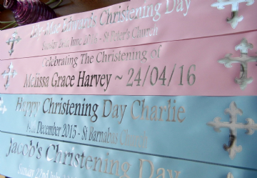 Personalised Baby's Christening Banner